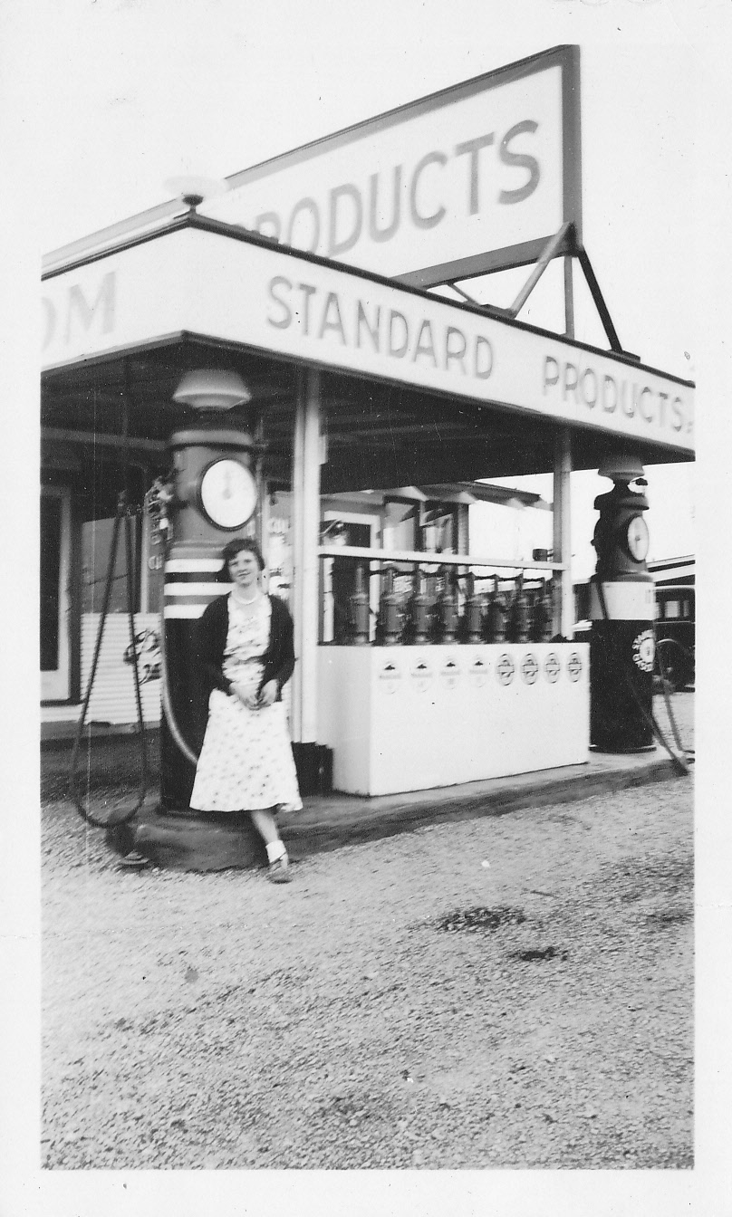 Elizabeth at Gas Station