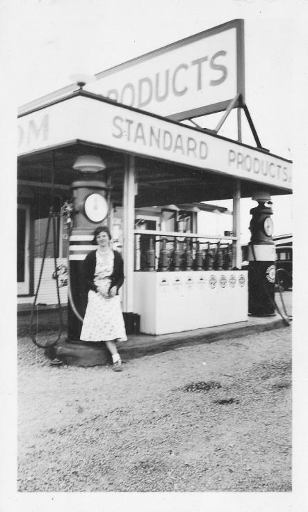 Elizabeth at Gas Station