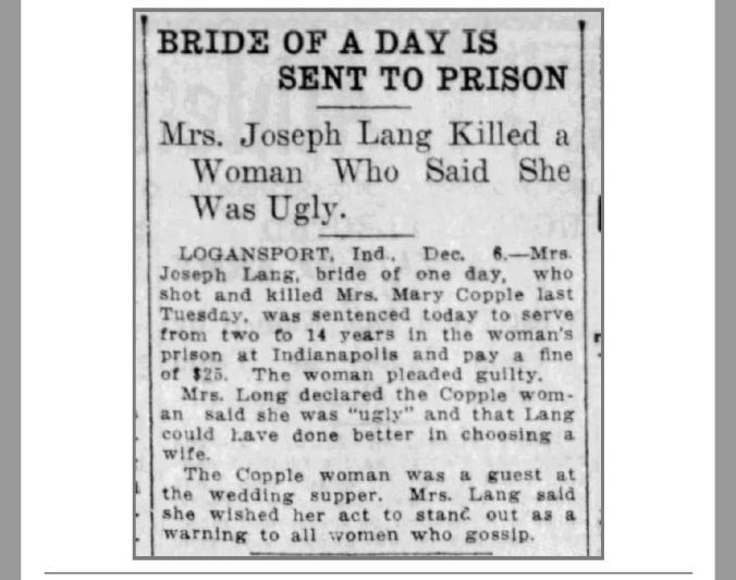 Jessie Mary Copple Killed