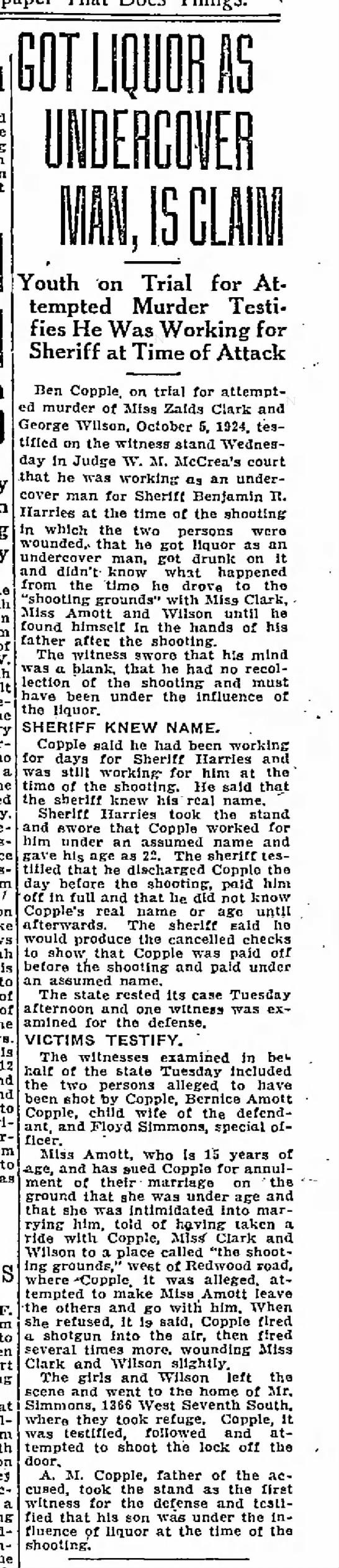Benjamin Garl Copple attempted murder
