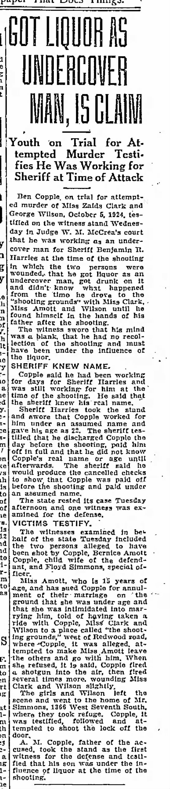 Benjamin Garl Copple attempted murder